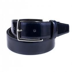 Cintura in vernice stampa canapa blu