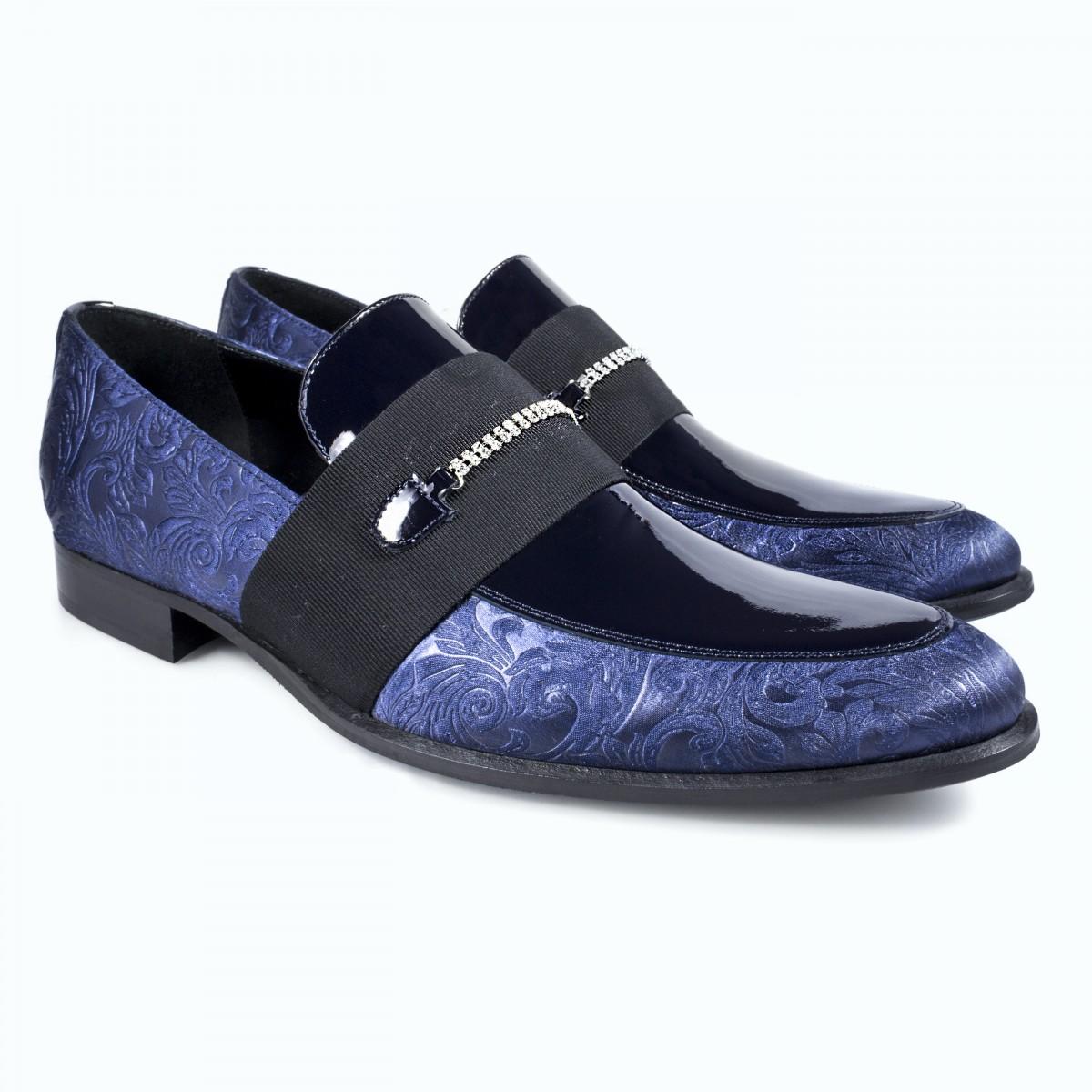 Mocassino Uomo Matrimonio : Scarpe eleganti da uomo mocassino blu per cerimonia