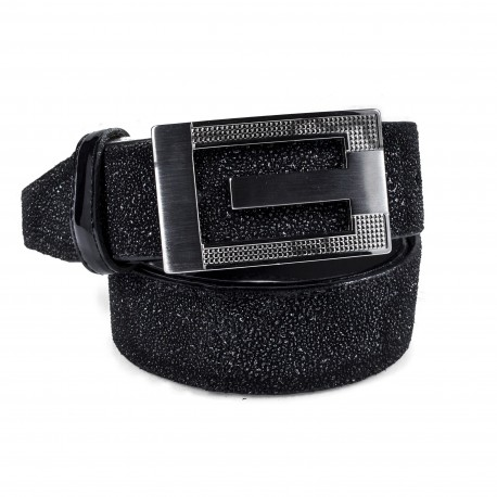 Cintura in glitter nero